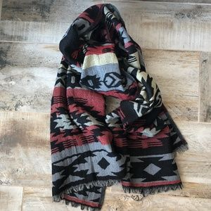 "NWOT Lucky Brand Wool Blanket Scarf - 23"" X 79"""